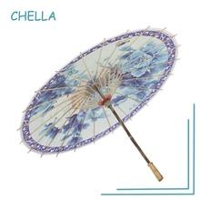 China Style Manual Bamboo Umbrella Oil Painting Guarda Chuva Free Shipping