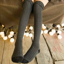aba1b7d4906 2017 New Womens Fashion Thigh High Stockings Sexy Warm Knitted Over Knee  Long Boot Stockings For Girls Autumn Winter Leggings