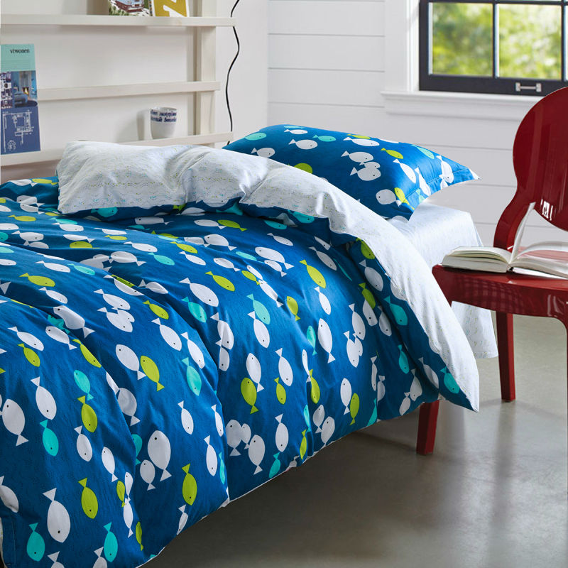Online get cheap fish bed set alibaba group for Fish bedding twin