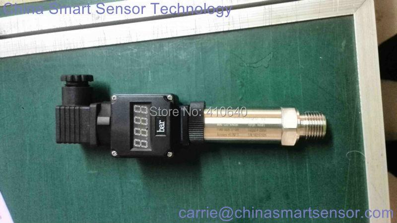 Давление передатчик 4 20mA с Дисплей 60 бар герметичный датчик G1/2 внешних Давление Порты и разъёмы