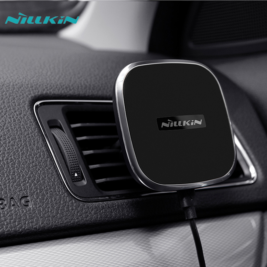 qi wireless charger pad air vent mount nillkin wireless charger in car magnetic for iphone 6s 7. Black Bedroom Furniture Sets. Home Design Ideas