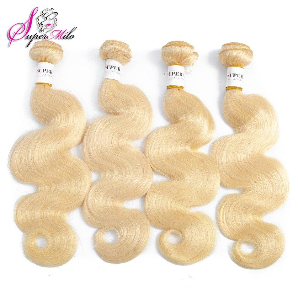 Супер мило светлые волосы тела волна 613 пучки бразильские натуральные волосы 100% пучки только 10-28 дюйм(ов) ов) 613 цвет remy волосы расширение
