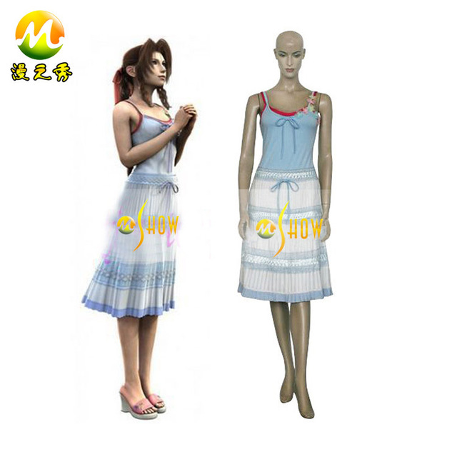 Anime cosplay Final Fantasy VII 7 Aerith Gainsborough Cosplay costumes for  sale halloween party night clothes