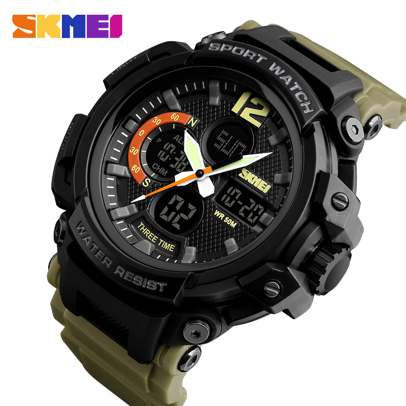 <font><b>SKMEI</b></font> Fashion Men Outdoor Sport Watch 50M Waterproof Digital Watches Men Quartz Wristwatches Erkek Saat Clock Relogio Masculino image