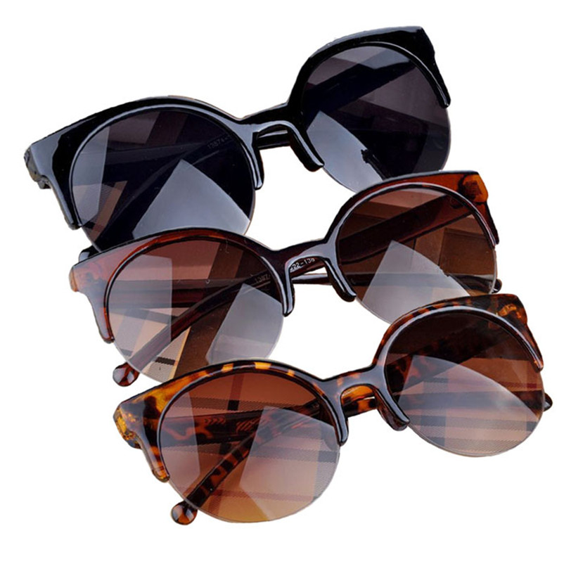 #5001 dress Hot new Selling Fashion Vintage Sunglasses Retro Cat Eye Semi-Rim Round Sunglasses for Women Sun Glasses Eyewear