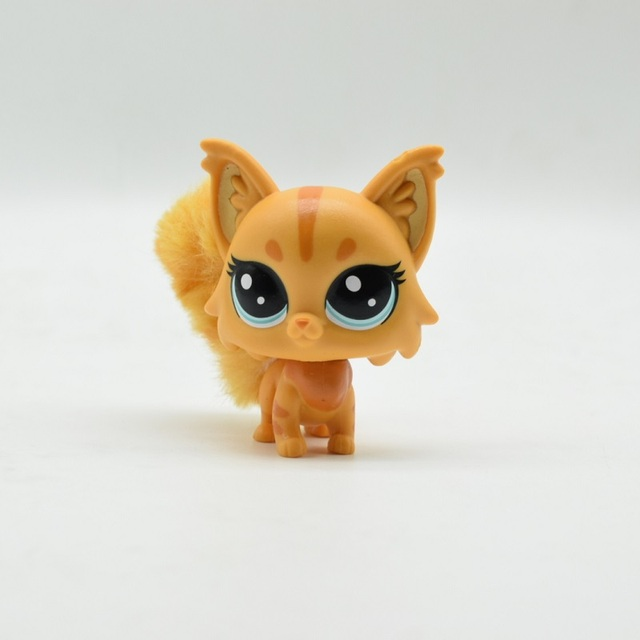 Cat and plush tail Big eyes Action Figure PVC LPS Toy