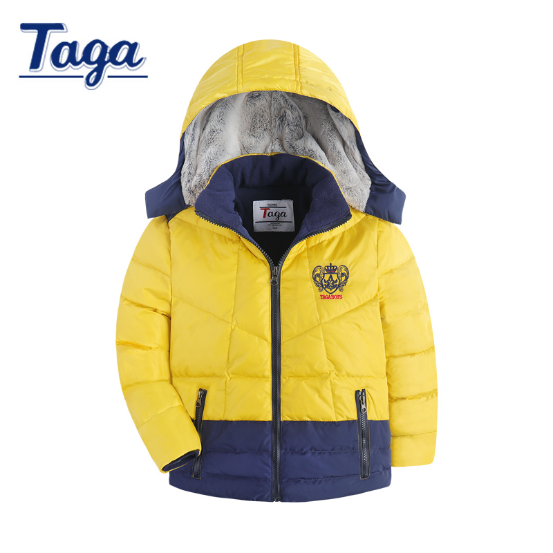 2017 TAGA New Boys Jackets For Cold Winter Thick Duck Down Parkas Girls baby hoodies Outerwear Coats Children Clothes -15 Degree fashion 2017 girl s down jackets winter russia baby coats thick duck warm jacket for girls boys children outerwears 30 degree