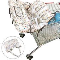 ベビー子供ポータブルショッピングカートカバーパッドベビーショッピングプッシュカート保護カバー安全子供のための多機能