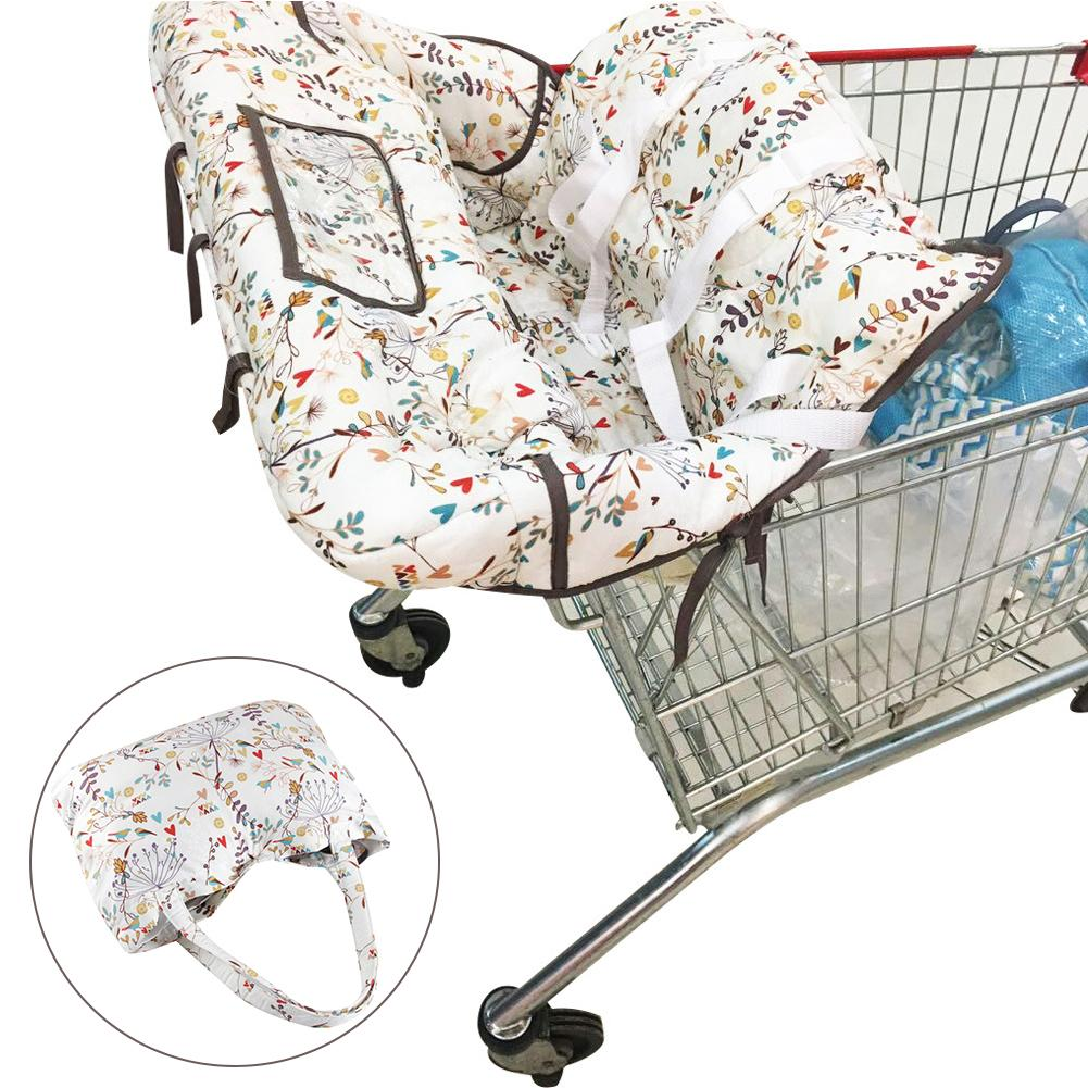 Baby Children Portable Shopping Cart Cover Pad Baby Shopping Push Cart Protection Cover Safety Seats For Kids Multifunction