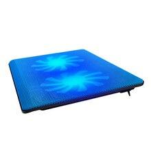 "14 15,6 ""zoll laptop cooling pad kühler 2 fans mute-lüfter basis heißer usb für computer notebook kostenloser versand"