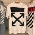 2017 TOP Vision OFF WHITE T Shirt Мужчины Женщины 100% Хлопок 1:1 джастин Бибер Offwhite Pyrex C/O Вирджил Abloh ФУТБОЛКИ Мужчин Vlone Tee