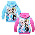2015 Hot Sales Baby girl Cartoon clothing long sleeve hoody top /girls elsa hoodies/ kids girls sweatshirts cotton 6pcs/lot