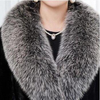 Real fox fur Collar Women Shawl Wraps Shrug Neck Warmer coat Fur Collar Stole Natural fox fur Ring scarves