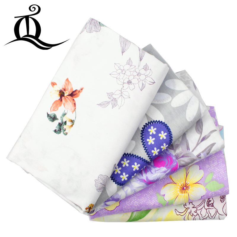 TQ 160cm*50cm hot mix purple Series Floral Cotton Fabric for Sewing Quliting Patchwork Tilda Doll Cloth Scrapbook Material D8