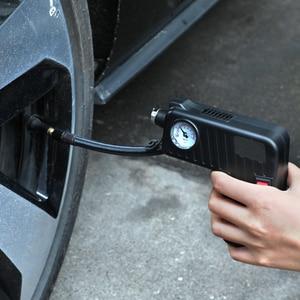 Image 4 - Siyah lastik şişirme pompası DC 12 V Çok fonksiyonlu Taşınabilir Elektrikli Otomatik Pompası Arabalar Için Bisiklet Pompaları Işaretçi Ekran