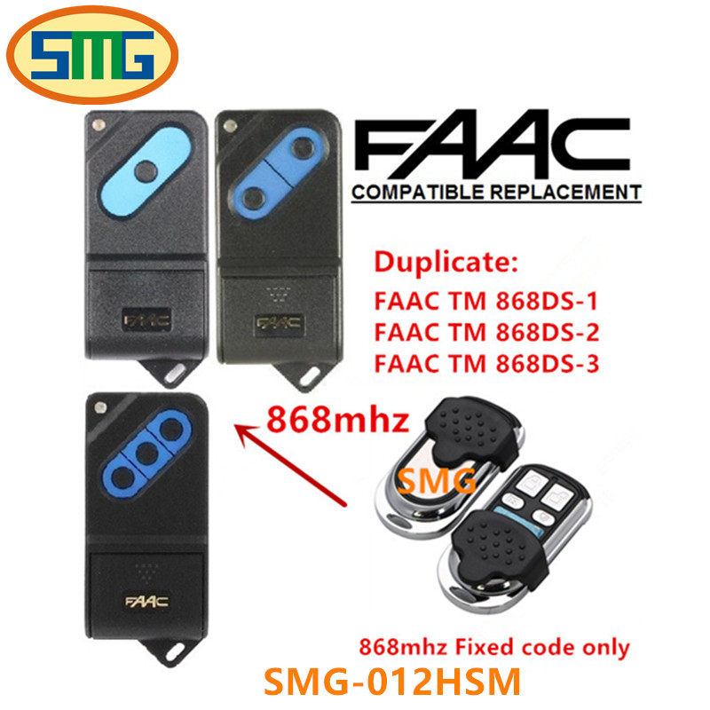 5 шт. Бесплатная доставка дистанционный пульт 868 мГц 2 Каналы Совместимость faac TM 868 tm1 tm2 tm3