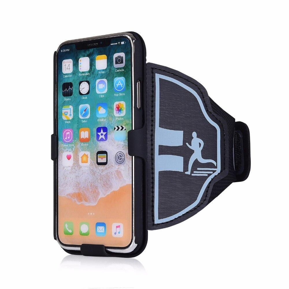 Sport mobile téléphone cas brassard Pour iPhone X 10 7 8 PLUS 5S se 6 s plus 8 Salle de Sport courir Exercice Téléphone Titulaire Pouch arm band