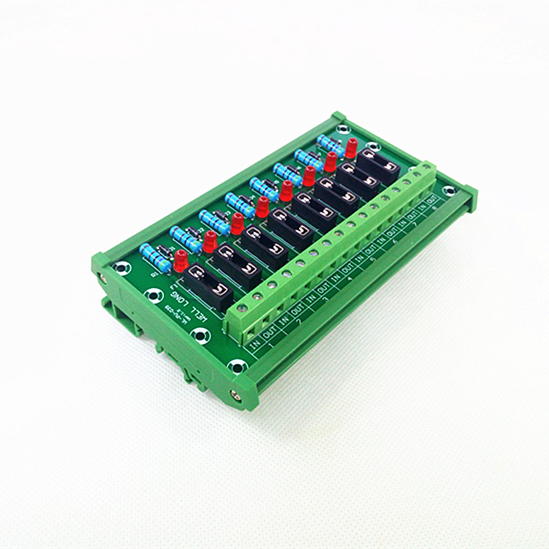 DIN Rail Mount 8 Position Fuse Module Board.