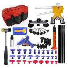 цена на car tools for auto repair car dent repair tools dent puller with pdr glue gun repair hammer tap down pulling bridge pdr tools