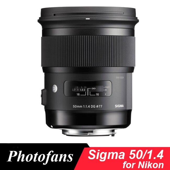 Sigma 50/1.4 Lens For Nikon 50mm F/ 1.4 DG HSM Art Lens