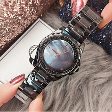 Dropshipping New 2019 Water Resistant Fashion Casual Luxury Designer Ladies Shining Diamond Elegant  Women Quartz Watch
