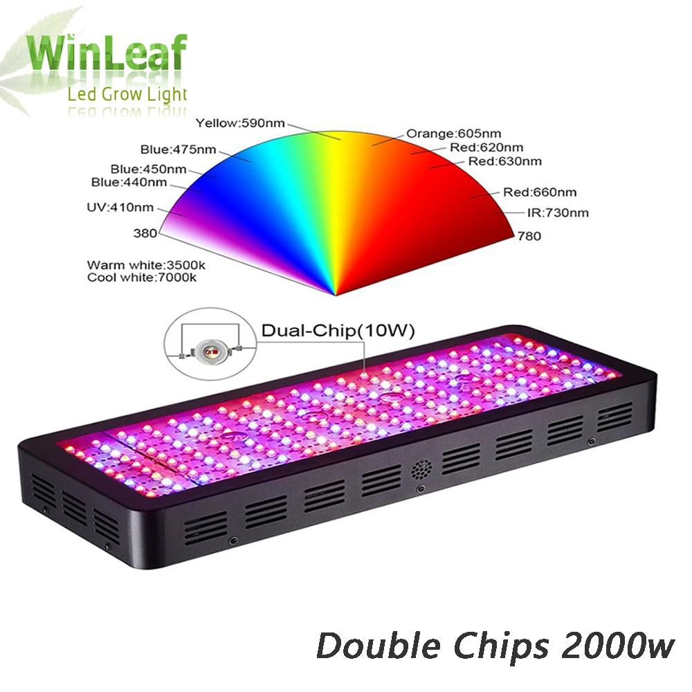 LED grandir lumière spectre complet palnt pousser lampe Double puces pour plantes d'intérieur serre hydroponique graine et floraison