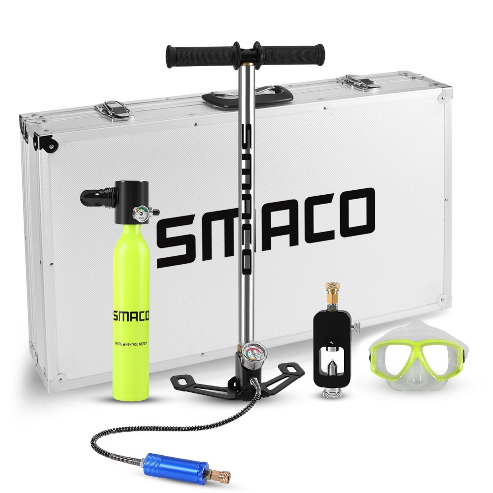SMACO Diving Equipment oxygen cylinder set Mini scuba tank total freedom breath underwater for 5 to