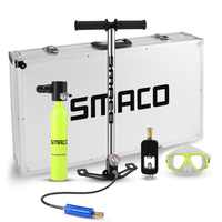 SMACO  Diving Equipment oxygen cylinder set Mini scuba tank total freedom breath underwater for 5 to 10 minutes