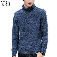 2016 Autumn Turtleneck Sweater Men Long Sleeve Slim Fit Casual Pullover Basic Outerwear Pull Homme Sudaderas #161573
