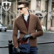 MWAMI High Quality 2015 Men Autumn Winter 100% Wool Warm Suits Blazers Young Man Super Slim Fashion Business Wedding Groom Coat