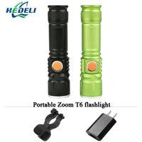 Portable Light USB Mini Flashlight CREE XM L T6 LED Torch Rechargeable Waterproof Flash Light 3000