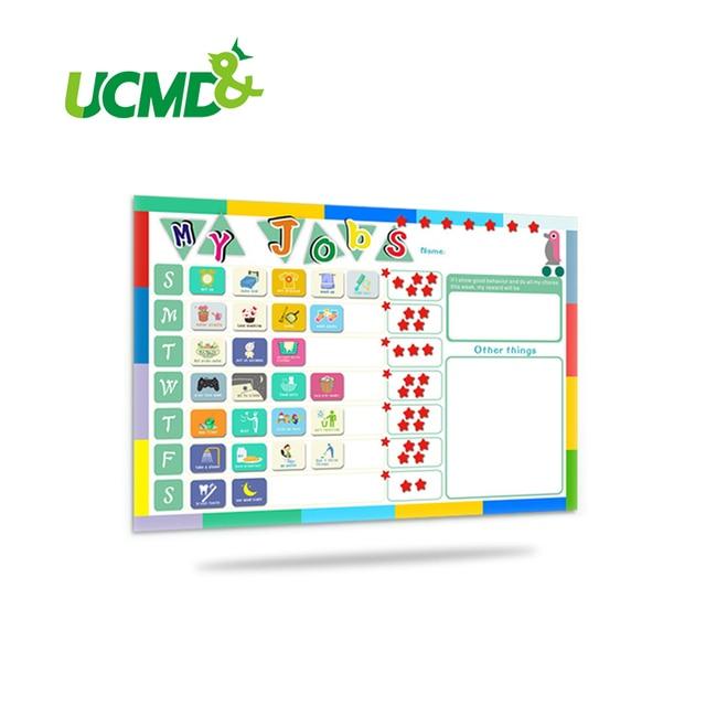Magnetic chores chart dry erase board wall sticker kids weekly planner to do list reward cm also rh aliexpress