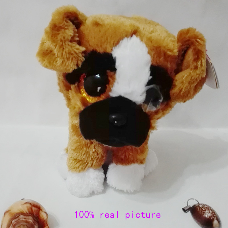 In Stock Original Ty Beanie Boos Big Eyed Stuffed Animal Brutus