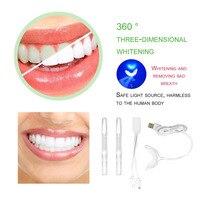 Tamanho Compacto profissional Conjunto de Ferramentas À Prova D' Água Kit de Clareamento Dos Dentes Clareamento dental Com Luz LED Ferramentas de Dentes Lâmpada de Branqueamento