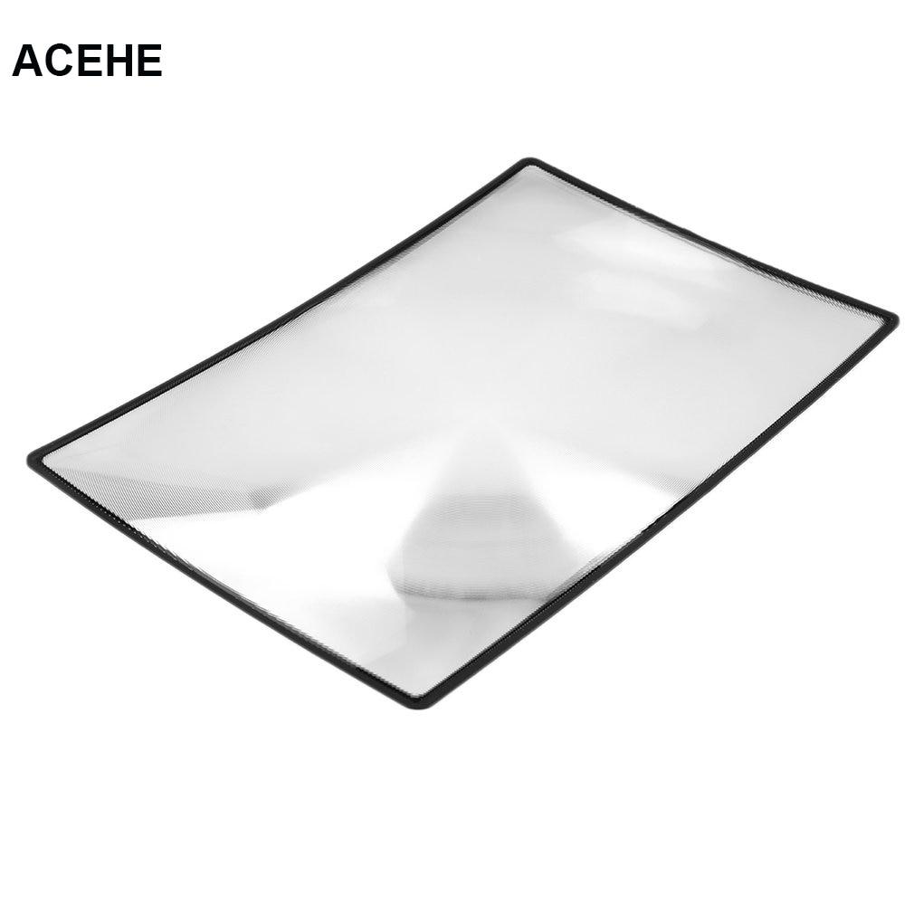 ACEHE 180X120mm Lupa Pohodlné A5 Ploché PVC List X3 Kniha Stránka - Měřicí přístroje - Fotografie 1