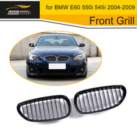 5 Series Silver PP Car Grille Front Bumper Kidney Mesh Grill for BMW E60 550i 545i 2004 2009