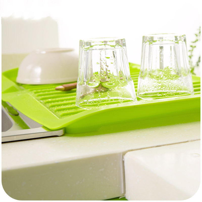 Plastic Dish Drainer Tray Large Sink Drying Board Tilte Rack ...