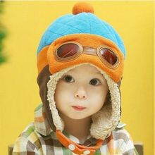 New Fashion Hats Child Pilot Aviator Hat Earmuffs Beanies Ki