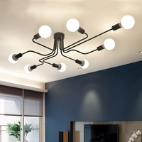 Modern LED Ceiling Chandelier Lighting Living Room Bedroom Chandeliers Creative Home Lighting Fixtures AC110V 220V Free