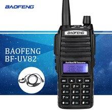 Baofeng UV82 walkie talkie uv 82 Portable Radio With Earphone CB Ham Radio Vhf Uhf Dual band Walkie-talkie Two-way Transceiver