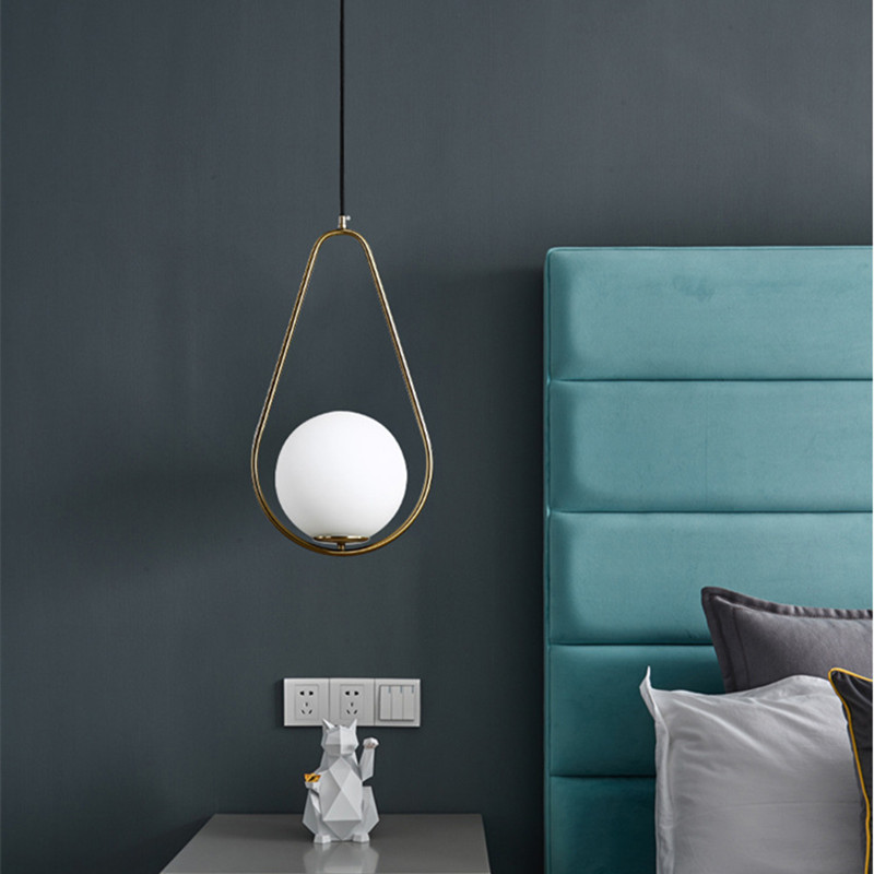 Nordic LED Pendant Light Modern Restaurant Balcony Pendant Lighting Living Room Dining Room Deco Glass Hanging Lamp Fixtures country rustic crystal dining room pendant light glass balcony hallway hanging lamp retro metal corridor restaurant pendant lamp