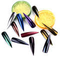 2 g/caja Brillo Espejo Magnífico Cromo Pigmento Del Arte Del Clavo Glitters Clavo Del Brillo Del Polvo Del Polvo de Uñas de Arte de uñas de acrílico en polvo de color