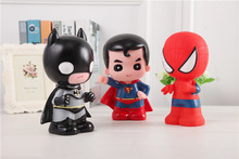 Square piggy bank Logbook Series Batman Superman Thor Captain America Avengers Tin box Money Saving Coin Box Storage Tank Gift