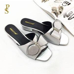 Image 1 - Anne terlik ayakkabı yay kadınlar için afrika tarzı ayakkabı