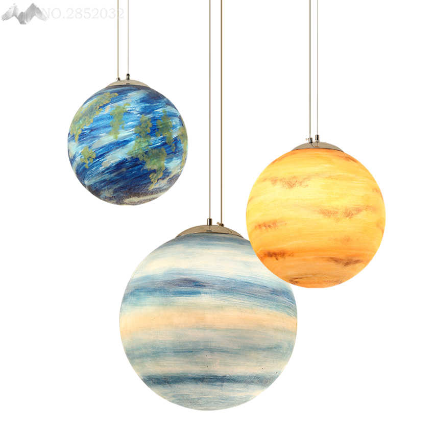 Creative Solar System Planet Hang lamps pendant lights led
