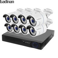 GADINAN 4CH 8CH 1080P 2MP POE NVR CCTV System Outdoor Waterproof IP Camera P2P Onvif Video Surveillance Kit Motion Detection
