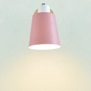 Image 3 - Holz wand lichter nacht wand lampe mit schalter moderne wand ligh Nordic macaron wandlampen schlafzimmer restaurant wohnzimmer lenkung