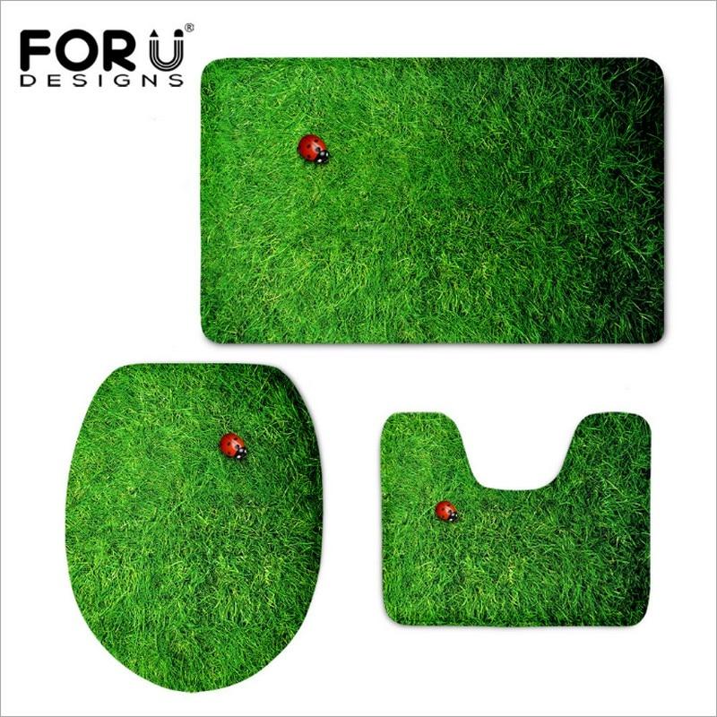 3PCS bathroom Carpets Funny Plants Sunflower 3D Print Floor Mat For Livingroom Bath Kitchen Carpets Bedroom Rub Mats