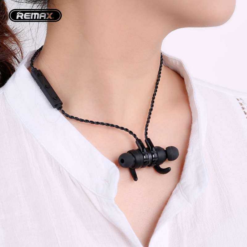 Remax Magnetic neckband headset S10 sport bluetooth wireless headset noise reduce HD sound with mic for mobilephone smart phone