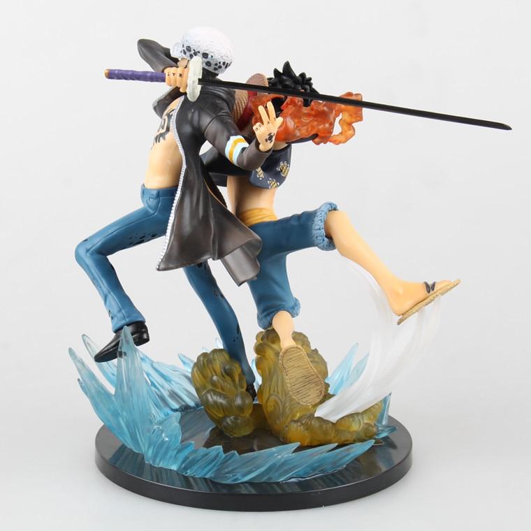 1 Pcs One Piece Luffy Trafalgar Law Estatueta Ação ª Juguetes Anniversery  16 CM PVC Coleção Modelo de Presente de Alta Qualidade brinquedo 822e637de58